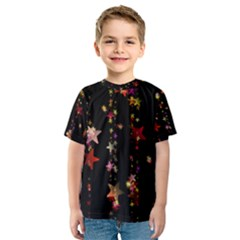 Christmas Star Advent Golden Kids  Sport Mesh Tee