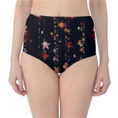 Christmas Star Advent Golden High-Waist Bikini Bottoms