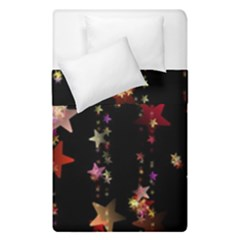 Christmas Star Advent Golden Duvet Cover Double Side (Single Size)