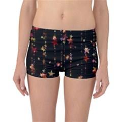 Christmas Star Advent Golden Reversible Bikini Bottoms