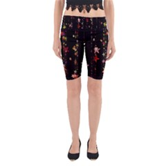 Christmas Star Advent Golden Yoga Cropped Leggings