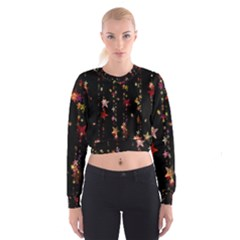 Christmas Star Advent Golden Women s Cropped Sweatshirt