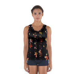 Christmas Star Advent Golden Women s Sport Tank Top