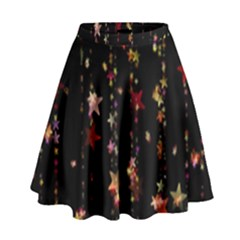 Christmas Star Advent Golden High Waist Skirt