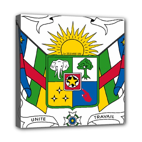Coat of Arms of The Central African Republic Mini Canvas 8  x 8