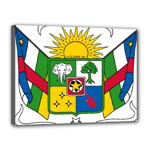 Coat of Arms of The Central African Republic Canvas 16  x 12