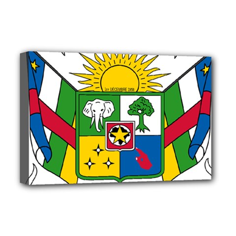Coat of Arms of The Central African Republic Deluxe Canvas 18  x 12