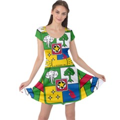 Coat of Arms of The Central African Republic Cap Sleeve Dresses