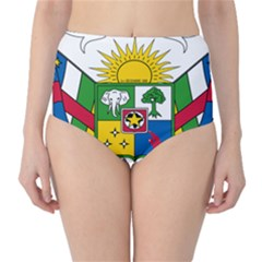 Coat of Arms of The Central African Republic High-Waist Bikini Bottoms