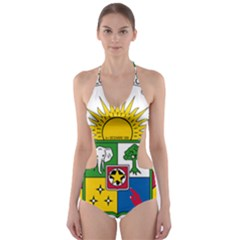 Coat of Arms of The Central African Republic Cut-Out One Piece Swimsuit