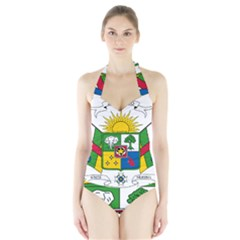 Coat of Arms of The Central African Republic Halter Swimsuit