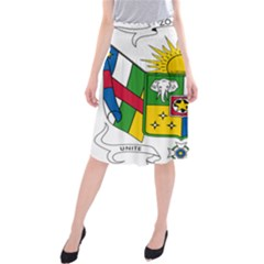Coat of Arms of The Central African Republic Midi Beach Skirt