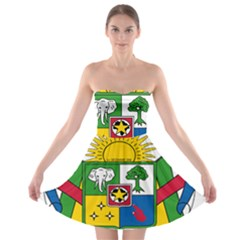 Coat of Arms of The Central African Republic Strapless Bra Top Dress