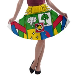 Coat of Arms of The Central African Republic A-line Skater Skirt