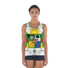 Coat of Arms of The Central African Republic Women s Sport Tank Top