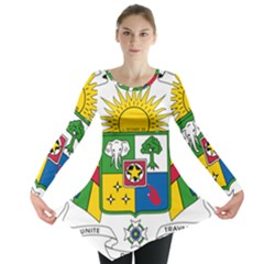 Coat of Arms of The Central African Republic Long Sleeve Tunic