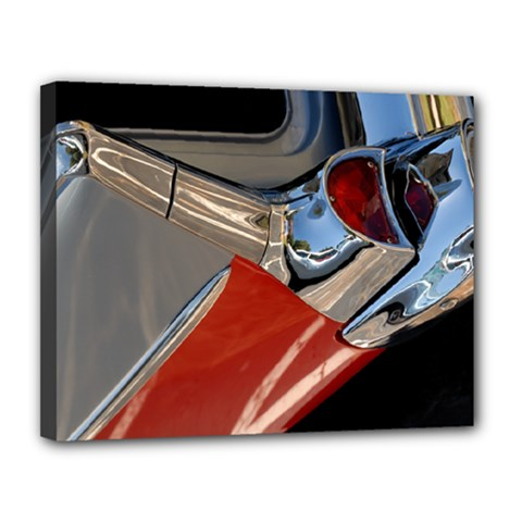 Classic Car Design Vintage Restored Canvas 14  x 11