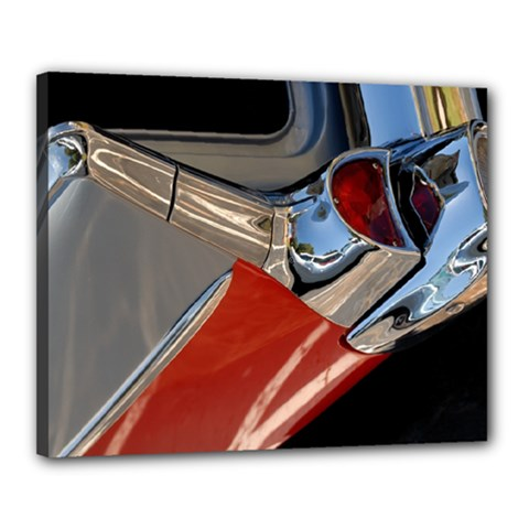 Classic Car Design Vintage Restored Canvas 20  x 16