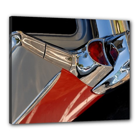 Classic Car Design Vintage Restored Canvas 24  x 20