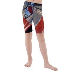 Classic Car Design Vintage Restored Kids  Mid Length Swim Shorts