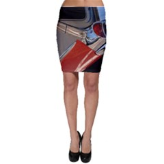 Classic Car Design Vintage Restored Bodycon Skirt
