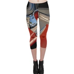 Classic Car Design Vintage Restored Capri Leggings