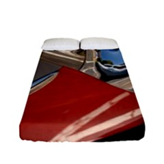 Classic Car Design Vintage Restored Fitted Sheet (Full/ Double Size)
