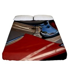 Classic Car Design Vintage Restored Fitted Sheet (King Size)