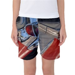 Classic Car Design Vintage Restored Women s Basketball Shorts