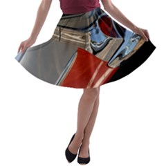 Classic Car Design Vintage Restored A-line Skater Skirt