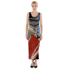 Classic Car Design Vintage Restored Fitted Maxi Dress