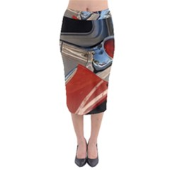 Classic Car Design Vintage Restored Midi Pencil Skirt