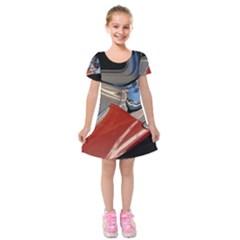Classic Car Design Vintage Restored Kids  Short Sleeve Velvet Dress