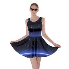 Christmas Xmas Night Pattern Skater Dress