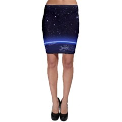 Christmas Xmas Night Pattern Bodycon Skirt