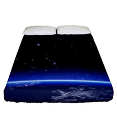 Christmas Xmas Night Pattern Fitted Sheet (Queen Size)