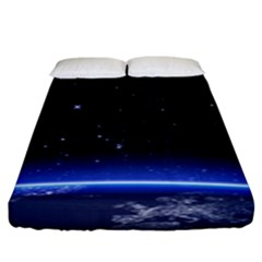 Christmas Xmas Night Pattern Fitted Sheet (King Size)