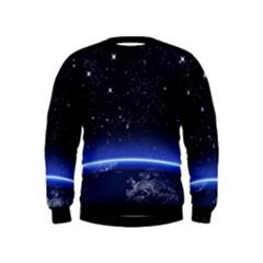 Christmas Xmas Night Pattern Kids  Sweatshirt