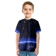 Christmas Xmas Night Pattern Kids  Sport Mesh Tee