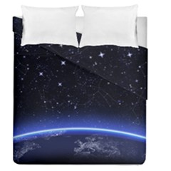 Christmas Xmas Night Pattern Duvet Cover Double Side (Queen Size)