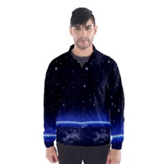 Christmas Xmas Night Pattern Wind Breaker (Men)