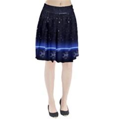Christmas Xmas Night Pattern Pleated Skirt