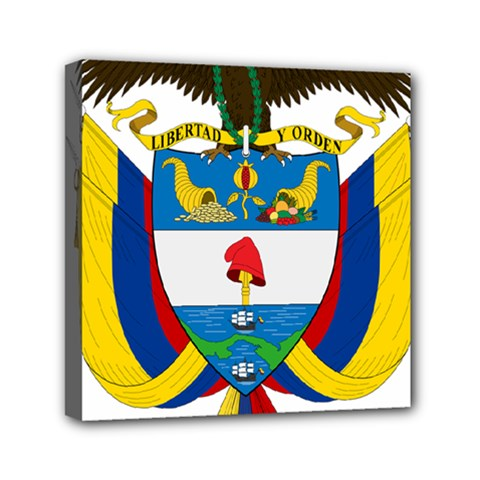 Coat of Arms of Colombia Mini Canvas 6  x 6