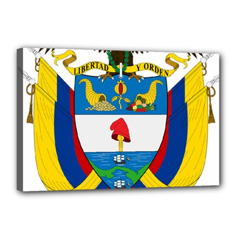 Coat of Arms of Colombia Canvas 18  x 12