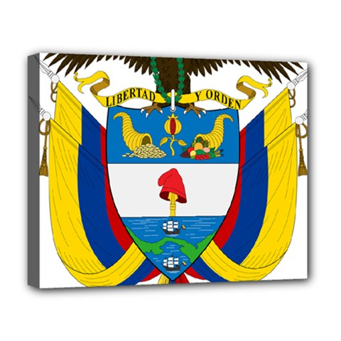 Coat of Arms of Colombia Deluxe Canvas 20  x 16