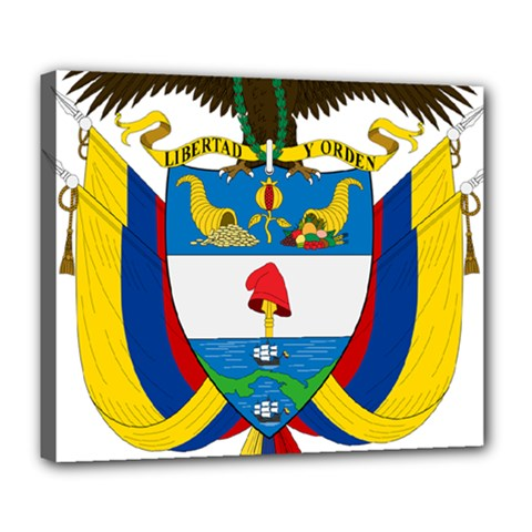 Coat of Arms of Colombia Deluxe Canvas 24  x 20
