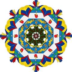 Coat of Arms of Colombia Hook Handle Umbrellas (Medium)
