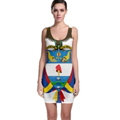 Coat of Arms of Colombia Sleeveless Bodycon Dress