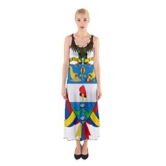 Coat of Arms of Colombia Sleeveless Maxi Dress