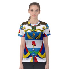 Coat of Arms of Colombia Women s Sport Mesh Tee